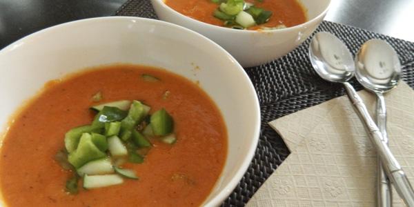 Сыроедный суп Гаспачо