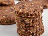 Сыроедческое печенье с какао-бобами