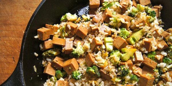 Буддийское вегетарианское блюдо.