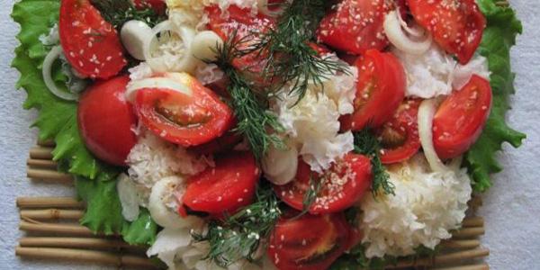 Оздоравливающий салат с тремеллой фукусовидной