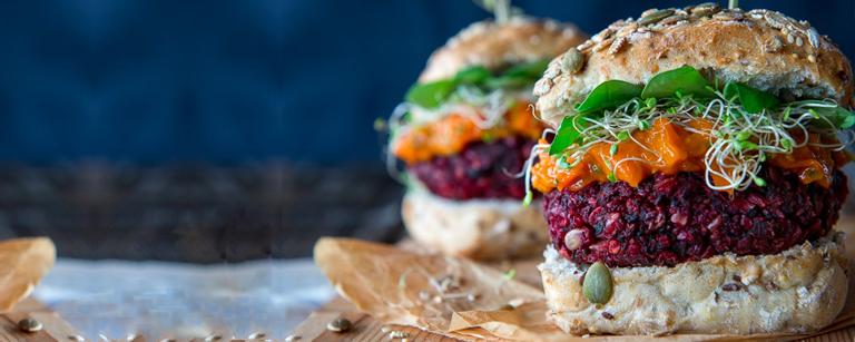 Вегетарианский бургер. Феерия цвета